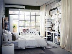 traditionell regale idee kleine schlafzimmer größer aussehen bett, Schlafzimmer design