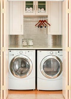 Combined Laundry Room and Kitchen | .