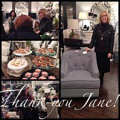 Interior designer, Jane Lockhart at Winterberry Lane furniture + home decor boutique store, Oakville, Ontario, Canada
