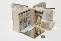 "SUSAN COLLARD - Small Museum of Nature and Industry--opening 2010 ""With the title and materials in mind, I tried to make a book with the open-ended complexity of a miniature museum."""