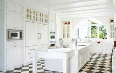 similar to my old kitchen but love the floor and arch