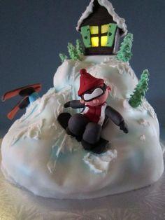 Snowboarding Birthday Cake cakepins.com