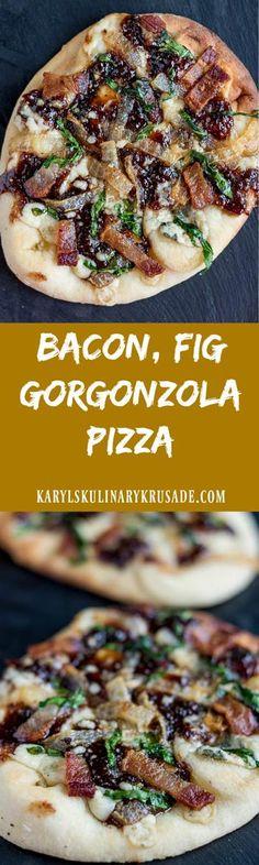 Bacon Fig Gorgonzola Pizza. A mouthwatering, savor…Edit description