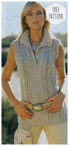 New crochet cardigan sleeveless ideas Knitting Paterns, Knit Patterns, Vest Pattern, Free Pattern, Crochet For Boys, Knit Crochet, Winter Blouses, Crochet Shoes Pattern, Knit Skirt