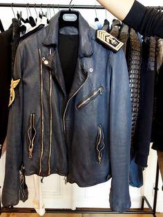 Balmain biker jacket.