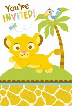 Lion king baby shower invitation templates free marias baby shower lion king baby shower invitations 8 count by amscan 633 8 postcard invitations filmwisefo