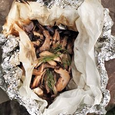 Mushrooms get a wallop of garlic and dill as they're softened into woodsy deliciousness.