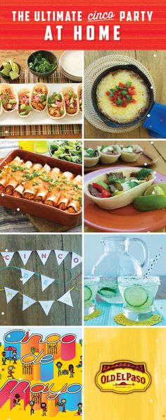 Ready for the Ultimate Cinco de Mayo party at home? Check out these Fresh Fiesta Favorites from Old El Paso! Whether you're craving an Easy Bean Dip appetizer, Creamy Chicken Tacos, Grilled Steak Fajitas, Chicken Enchiladas, refreshing margaritas, or you're looking for a fun party banner or printable placemats to color with your kids- we've got it all! Don't miss these tasty recipes and fun projects for your whole family this Cinco de Mayo!