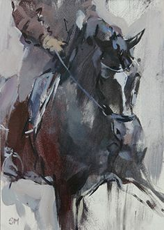 Valegro Impressions I by Sally Martin oil over acrylic ~ 7 x 5