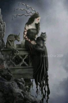A deadly nightshade by ana cruz. Gothic fantasy art