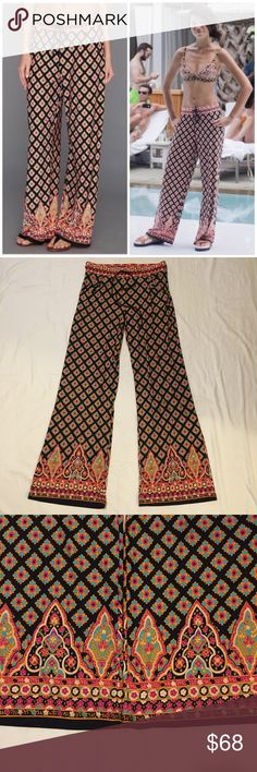 """Nanette Lepore Swim Paloma Beach Pants In great preworn condition. Slinky jersey pants that can be worn to the beach or just to lounge in. Front pockets and drawstring elastic waist. Inseam is approx 30"""". ❌NO TRADES❌ Nanette Lepore Swim"""