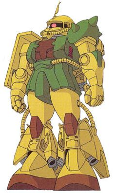 As Zeon worked to upgrade its aging MS-06 Zaku II series during the One Year War, they intended to replace the space-use mobile suit MS-06F Zaku II with a new high-performance model the MS-11 Action Zaku. But it was still under development, a MS-06R-1A Zaku II High Mobility Type was heavily modified to serve as a testbed unit for the Action Zaku's development team