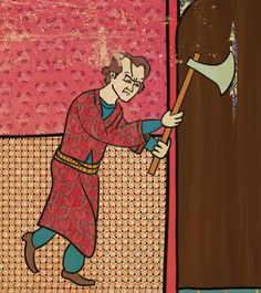 """Classic Movies in Ottoman's Miniature Style"" by illustrator Murat Palta."
