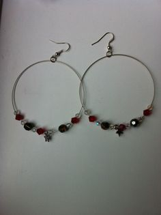 Hoop Chrystal.... xmas earrings £3.50