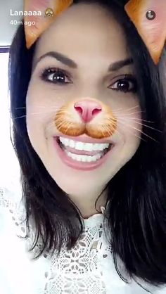 Awesome Lana an adorable kitty cat (SnapChat animal filter) #Paris #France Wednesday 6-15-16 #SnapChat