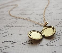 Tiny Round Locket -   Tiny Round Locket  by Olive Yew  $15.99