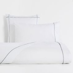 Image 1 of the product Contrasting Topstitching Cotton Duvet Cover