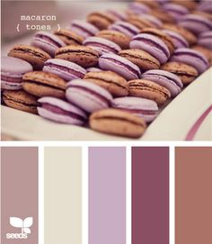 Design Seeds: macaron tones (I really like purple+brown+beige, one of my favourite colour combos)