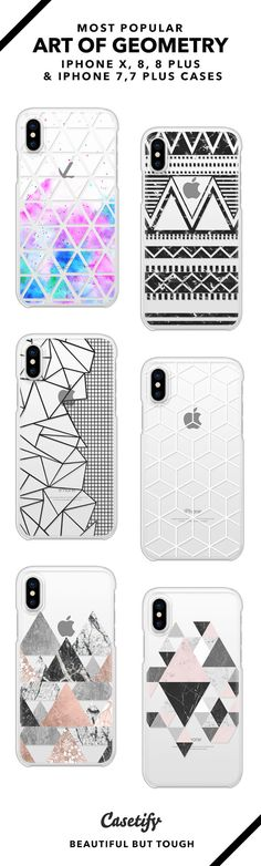 Art of Geometry iPhone X, iPhone 8, iPhone 8 Plus, iPhone 7 and iPhone 7 Plus case. - Shop them here ☝️☝️☝️ BEAUTIFUL BUT TOUGH ✨ - triangle, pattern art, patten design, black and white, minimalistic, mandala