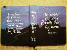 """Items similar to Painted bible rustic floral theme """"Esther"""" hand lettering, hand painted, ESV or NIV journaling bible or I paint your bible on Etsy New Bible, Bible Art, Bible Verses, Niv Journaling Bible, Art Journaling, Painted Books, Hand Painted, Bibel Journal, Bible Doodling"""