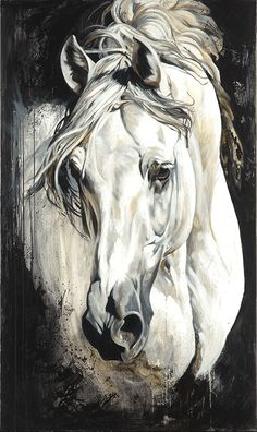 "goldfinchthistle: "" Elise Genest horse paintings """