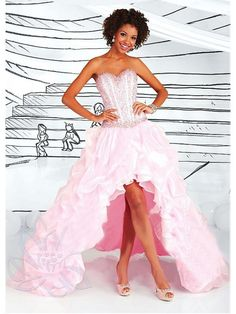 Alluring Organza & Satin Sweetheart Neckline Asymmetrical A-line Evening Dress