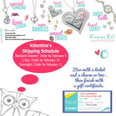 Show a little ♥ this Valentine's Day (girls, pin this to your sweetheart)!  http://ourlockets4u.origamiowl.com