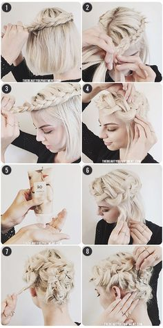 bob updo braid