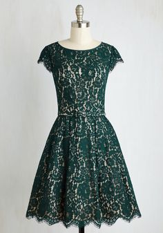 Left in a Spin Dress in Emerald. If youre ready for a style thatll leave you whirling with wonder, this green frock is waiting for you!  #modcloth