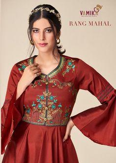 Price Per Piece :- ₹895 Minimum Order :- 8 Pcs Full Set Price :- *₹7,160 + ₹358 (GST 5%)* *Fabric Description* Top :- Tapeta Silk Inner :- Heavy Malai Crape Size :- S(36), M(38), L(40), XL(42), XXL(44), XXXL(46) Long Anarkali Gown, Fancy Gowns, Latest Colour, Silk Gown, Fashion Labels, Kurti, Salwar Kameez, Silk Fabric, Bell Sleeve Top