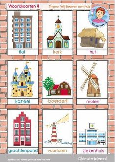 bouwen-woordkaarten-4 Ks1 Classroom, Art Classroom Decor, Holiday Themes, Christmas Themes, Learn Dutch, Around The World Theme, Dutch Language, Family Theme, Creative Curriculum
