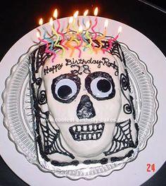 Homemade Skull Cake... This website is the Pinterest of halloween cakes