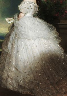 "warpaintpeggy:  "" INCREDIBLE DRESSES IN ART (23/∞)  Elisabeth of Bavaria, Empress of Austria by Franz Xaver Winterhalter, 1865  """