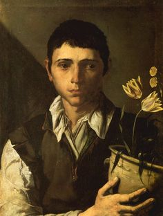 "Formerly attibuted to Jusepe de Ribera  Boy with a Vase of Flowers  Allegory of the Sense of Smell  Nasjonalgalleriet, Oslo; Inv. No. 1345    ""The sensibility may be that of Aniello Falcone (1607-1656), who is known to have trained with Ribera and could easily have created works in this style."""