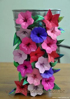 Cvijeće origami papir.  Ladolež (5) (500x700, 237Kb)