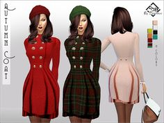 Autumn Coat by Devirose at TSR via Sims 4 Updates