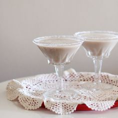 "THE SALTED CARAMEL MARTINI 1 part Butterscotch Snapps 1 part Kahlua 1 part vodka 2 parts whole milk ""It's like liquid Werther's Originals!"""