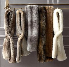 Just purchased these Luxe Faux Fur Scarves from Restoration Hardware!  LOVE THEM!