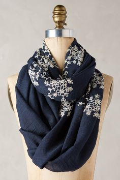 Embroidered Floriculture Scarf | Pinned by topista.com