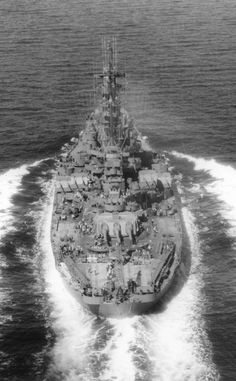 WWII era photo of an Iowa-class Battleship.