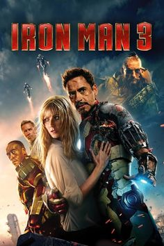 Iron Man 3 2013 When Tony Stark's world is torn apart by a formidable terrorist called the Mandarin, he starts an odyssey of rebuilding and retribution. Hindi Movies, Streaming Vf, Streaming Movies, Iron Man 3 Poster, Dc Comics Super Heroes, Disney Pixar, Disney Movies, Rambo, Iron Man Movie