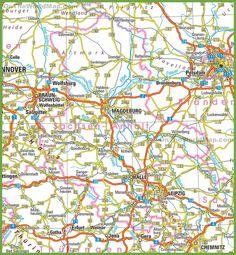 SaxonyAnhalt Map CARTOGRAPHY Pinterest Saxony anhalt