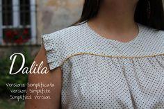 Tutorial Dalila : Versione semplificata - Version Simplifiée - Simplified Version  www.ateliervicolon6.com