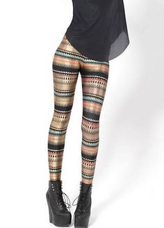 Colorful bar nice pattern skinny slim leggings for woman,american apparel punk style long pants for sexy lady Aztec Print Leggings, Striped Leggings, Printed Leggings, Print Pants, Leggings Mode, Leggings Fashion, Leggings Are Not Pants, Punk Fashion, Fashion Beauty