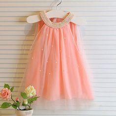 Bambini vestiti per l estate 2015 nuovo di marca principessa elegante del  bambino della neonata vestiti da partito del vestito senza maniche per  bambini ... 04365185e08