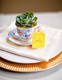 Wedding  Favor for a Succulent Wedding Theme
