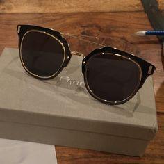 41486ee39d0cd Dior Composit 1.0 Sunglasses Won on an eBay auction. Amazing sunglasses.  Gold trim. Dior Accessories Sunglasses