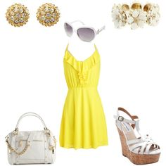 Yellow dress - Casual - would wear different shoes