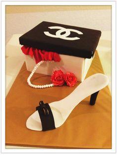 Chanel Shoe + Box Cake