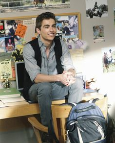 Dave Franco :) i wish he could sit on my desk like that